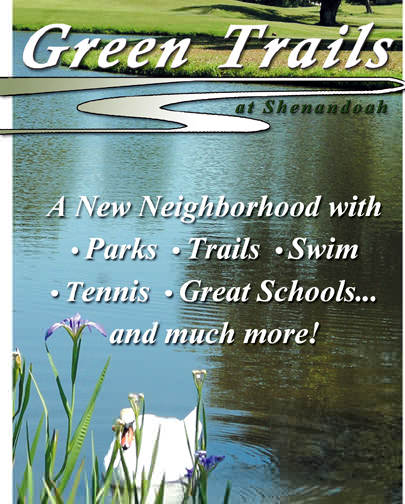 Green Trails at Shenandoah is a new upscale, master-planned community in Baton Rouge, Louisiana offering parks, trails, swimming, tennis, great schools and much more!